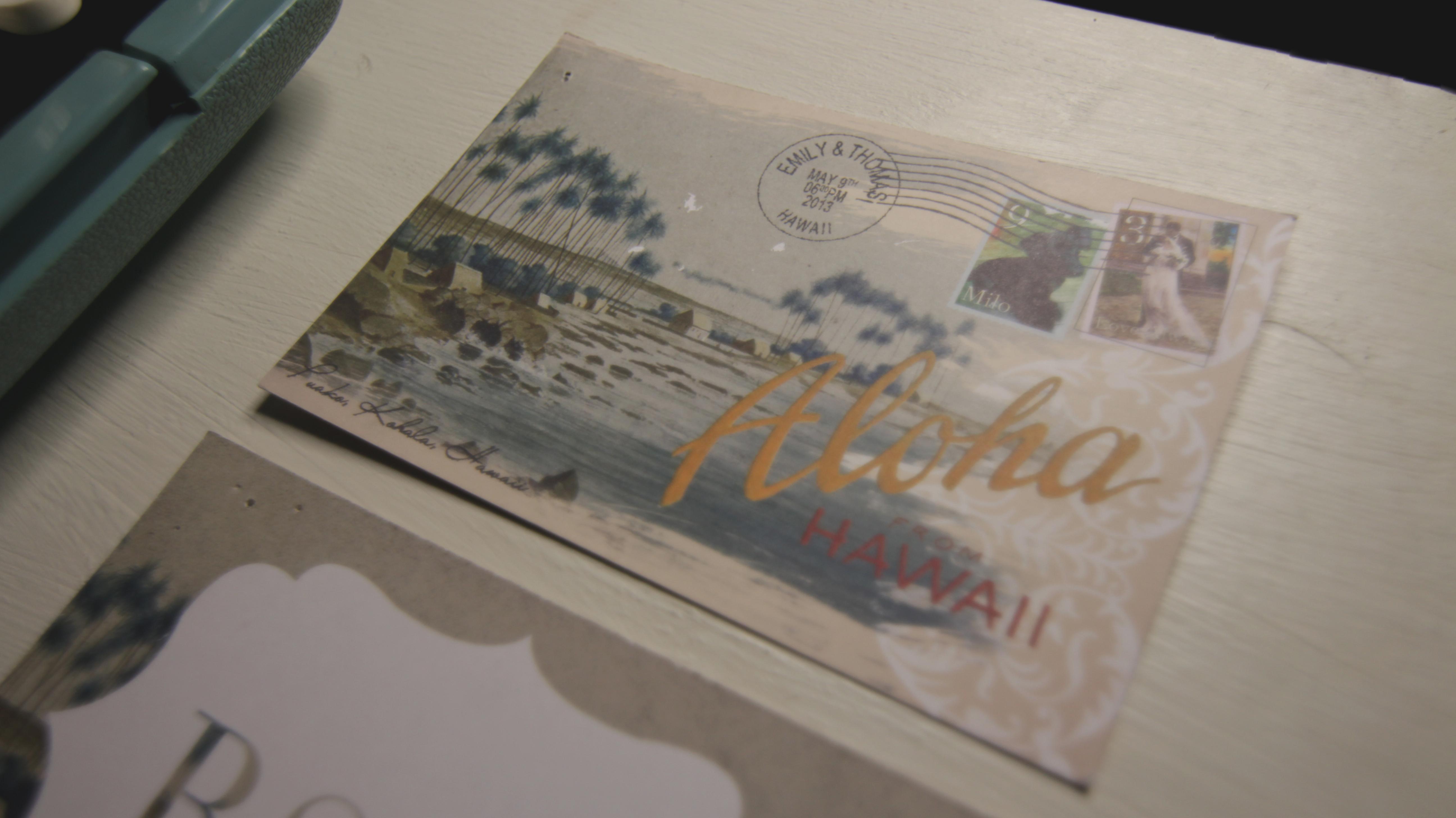 vintage postcard typewriter