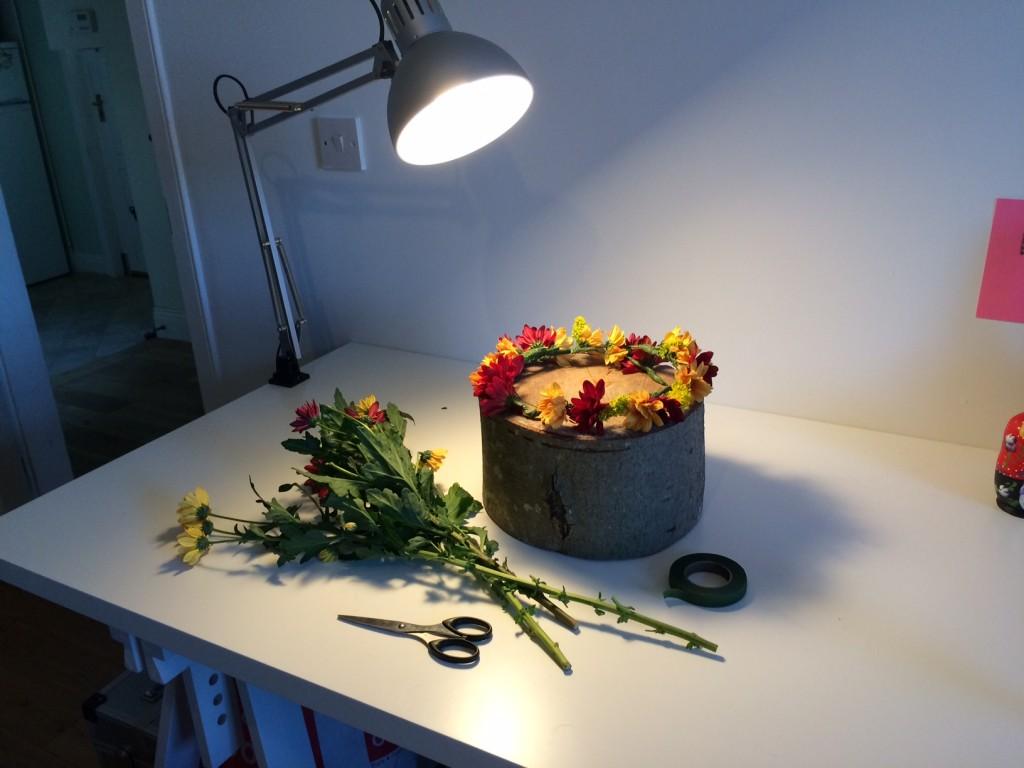 DIY Fresh Flower Crown